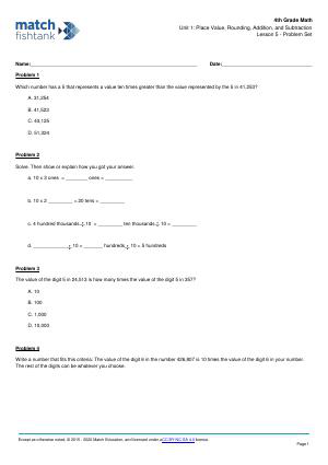 Worksheet for Lesson 5