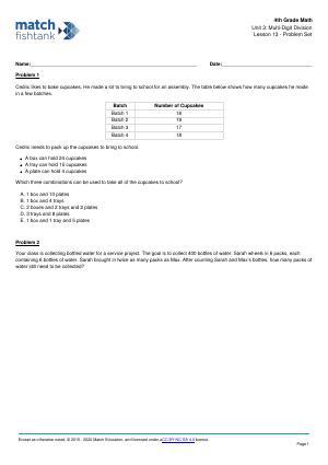 Worksheet for Lesson 13