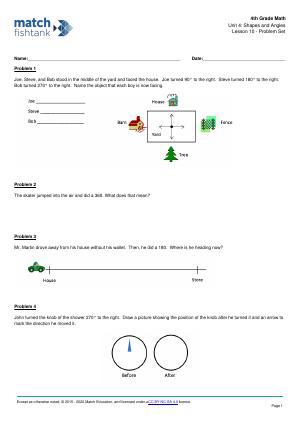 Worksheet for Lesson 10