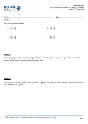 Worksheet for Lesson 9