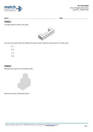 Worksheet for Lesson 2