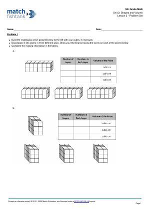 Worksheet for Lesson 3