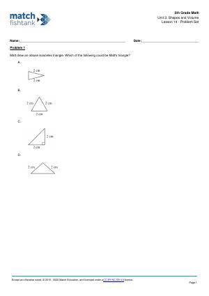 Worksheet for Lesson 14