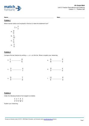 Worksheet for Lesson 11