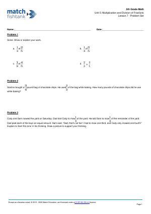 Worksheet for Lesson 7
