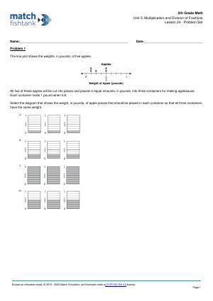 Worksheet for Lesson 24