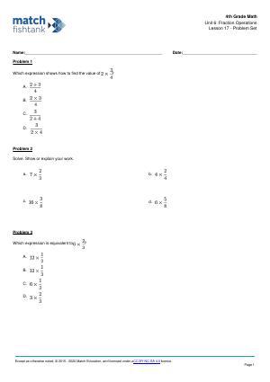 Worksheet for Lesson 17